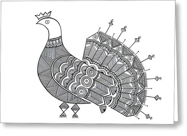 Bird Dove Greeting Card by Neeti Goswami