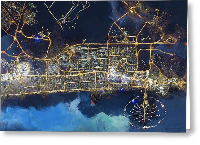 Burj Greeting Cards - Bird Eye View - Dubai B Greeting Card by Corporate Art Task Force