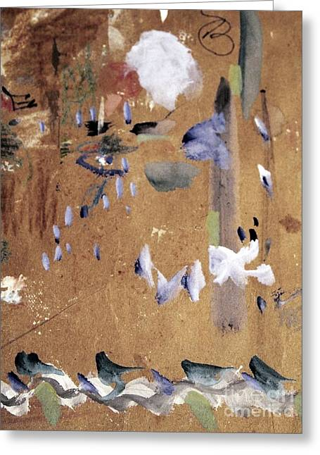 Gouache Abstract Greeting Cards - Bird Feeder Greeting Card by Nancy Kane Chapman
