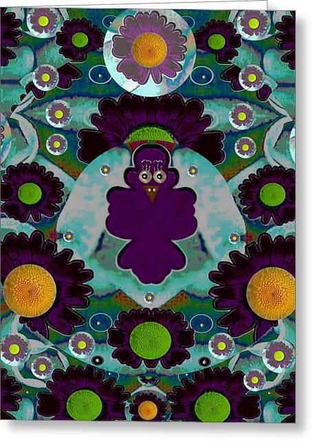 Spice Mixed Media Greeting Cards - Bird Fenix Greeting Card by Pepita Selles