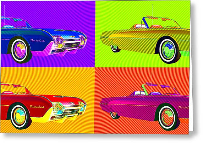 1963 Ford Digital Art Greeting Cards - Bird Is The Word Greeting Card by Richard Rizzo