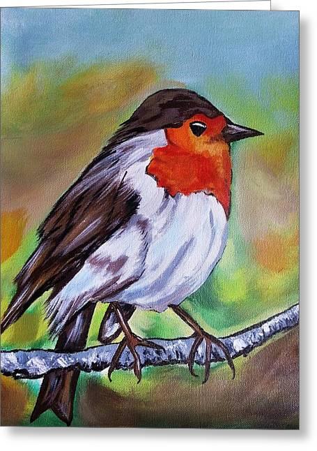 Bird Greeting Card by Jyoti Vats