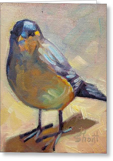 Donna Shortt Greeting Cards - Bird Left Greeting Card by Donna Shortt