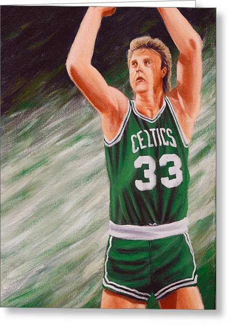 Larry Bird Greeting Cards - Bird Greeting Card by Marlon Huynh