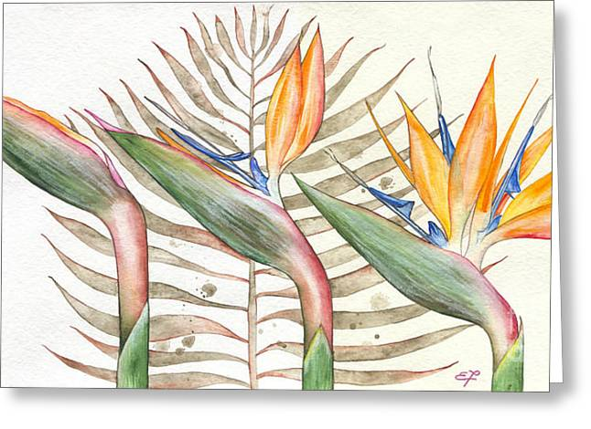 Bird Of Paradise Greeting Cards - Bird of paradise 05 Elena Yakubovich Greeting Card by Elena Yakubovich