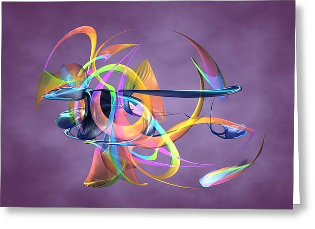 Digital_art Greeting Cards - Bird-Of-Paradise - Abstract Greeting Card by Louis Ferreira