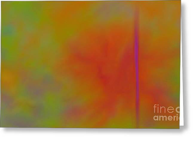 Abstract Digital Paintings Greeting Cards - Bird Of Paradise Greeting Card by Anita Lewis