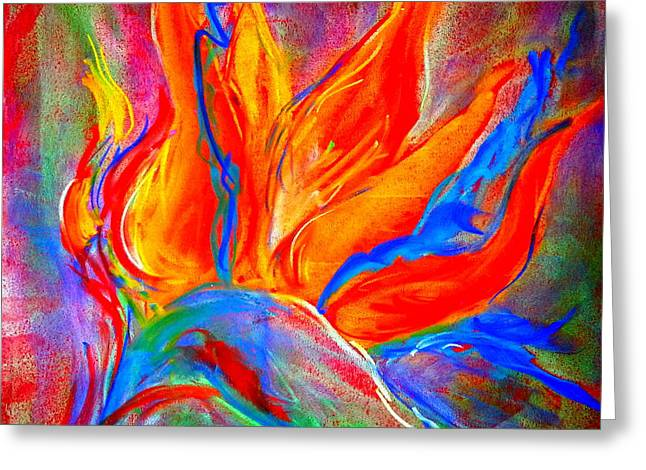 Loose Greeting Cards - Bird of Paradise Flower Greeting Card by Sue Jacobi