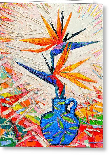 Royal Art Greeting Cards - Bird Of Paradise Flowers Greeting Card by Ana Maria Edulescu