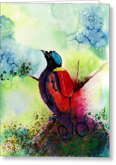 Bird Of Paradise  Greeting Card by Isabel Salvador