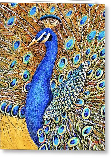 Bird Of Paradise Greeting Card by JAXINE Cummins