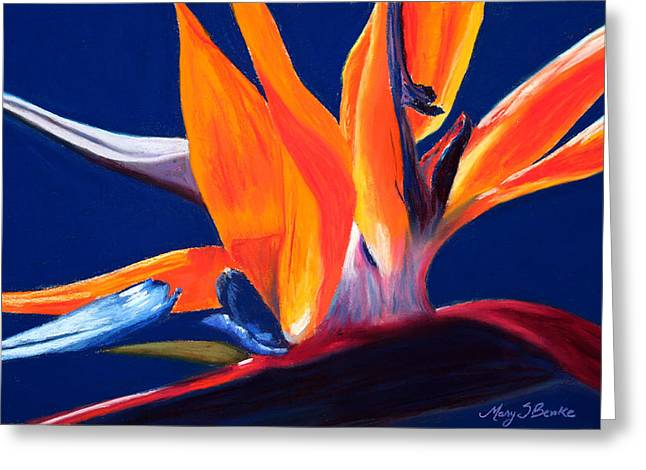Petals Pastels Greeting Cards - Bird of Paradise Greeting Card by Mary Benke