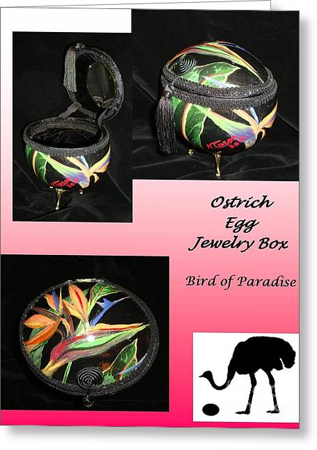 Sculpture Jewelry Greeting Cards - Bird of Paradise Greeting Card by Nancy Cason