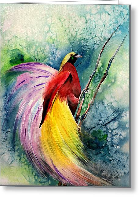 Art Forms Of Nature Greeting Cards - Bird of paradise New-Guinea Greeting Card by Isabel Salvador