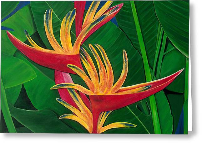 Lisa Bentley Greeting Cards - Bird of Paradise Painting Greeting Card by Lisa Bentley