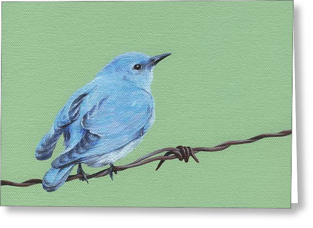Moment Of Life Greeting Cards - Bird on a Wire Greeting Card by Natasha Denger