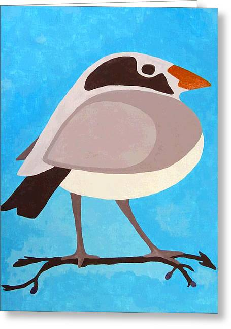 Print On Acrylic Greeting Cards - Bird On Branch Greeting Card by Lucia- Daughter of Will Borden