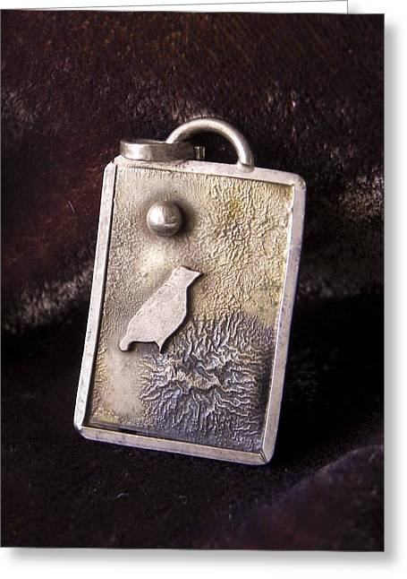 Bird Jewelry Greeting Cards - Bird on Nest Greeting Card by Patricia  Tierney