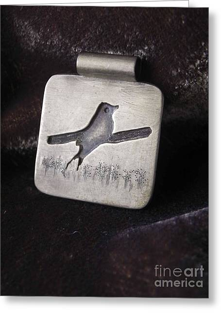 Bird Jewelry Greeting Cards - Bird Greeting Card by Patricia  Tierney