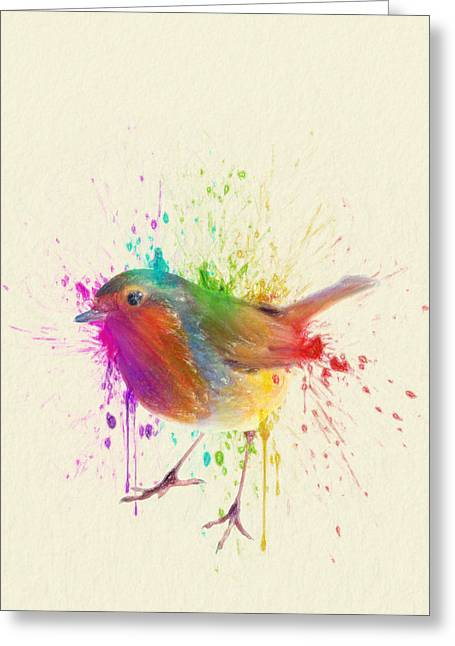 Animals Love Drawings Greeting Cards - Bird Study Greeting Card by Taylan Soyturk