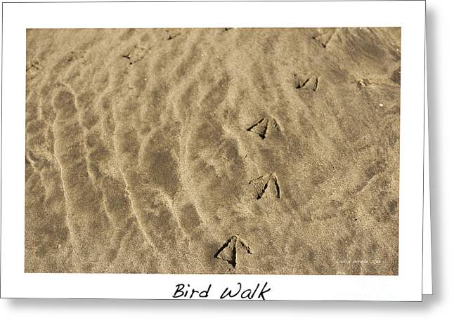 Bird Walk Greeting Card by Artist and Photographer Laura Wrede