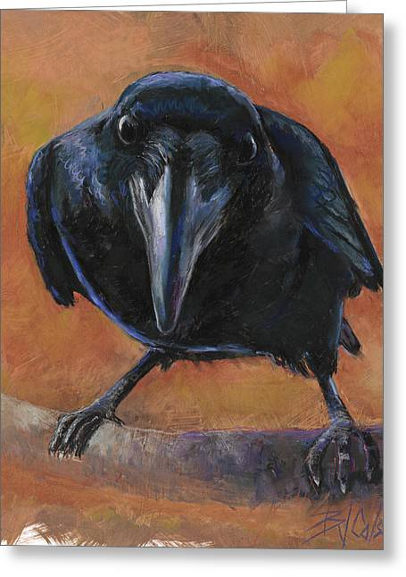 Mascot Pastels Greeting Cards - Bird  Watching Greeting Card by Billie Colson