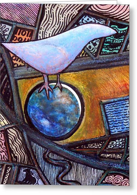 Birdball Greeting Card by James Raynor