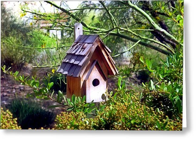 Birdhouse 4 Greeting Card by Lanjee Chee