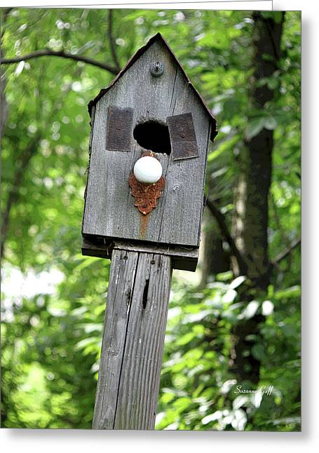 Outsider Digital Greeting Cards - Birdhouse Collection I Greeting Card by Suzanne Gaff
