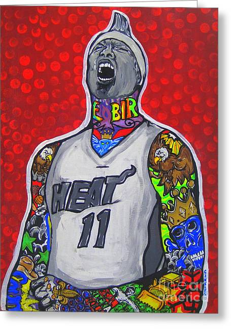 Miami Heat Greeting Cards - Birdman Greeting Card by Gary Niles