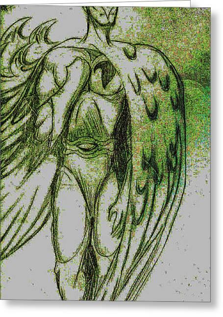 Superheroes Drawings Greeting Cards - Birdman Greeting Card by Jazzboy