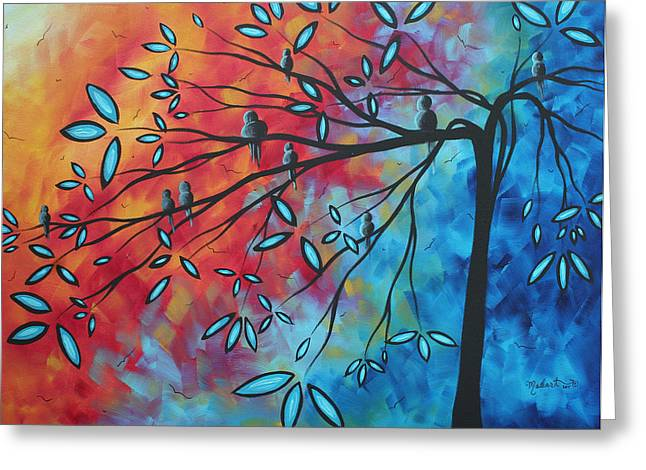 Buy Original Art Online Greeting Cards - Birds and Blossoms by MADART Greeting Card by Megan Duncanson