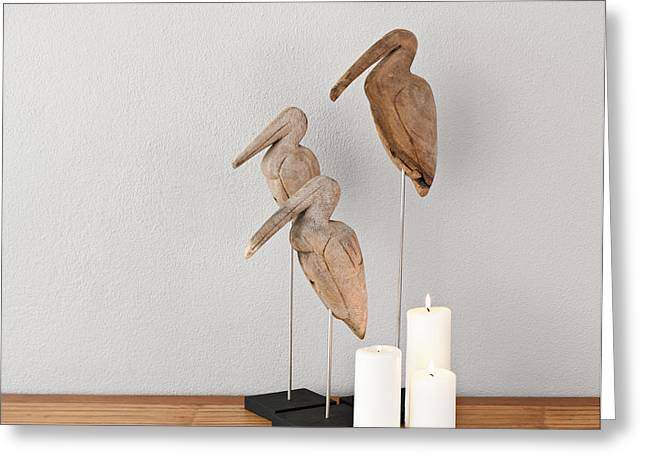 Candle Lit Greeting Cards - Birds and candles Greeting Card by Ulrich Schade