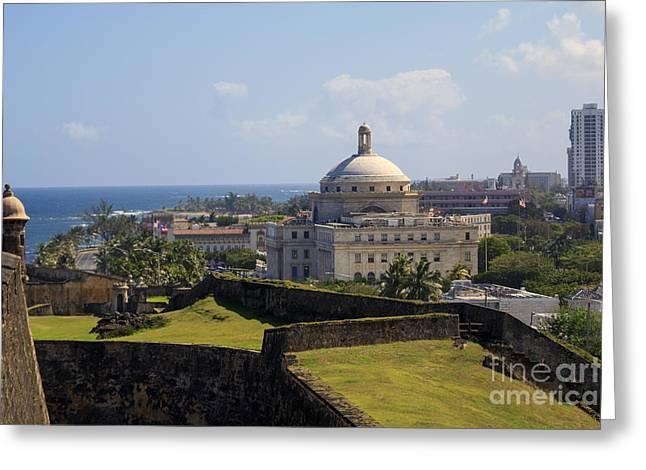 Old San Juan Prints Greeting Cards - Birds Eye View of El Morro Greeting Card by Mary Lou Chmura