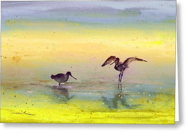 Chevalier Paintings Greeting Cards - Birds in The Camargue 03 Greeting Card by Miki De Goodaboom