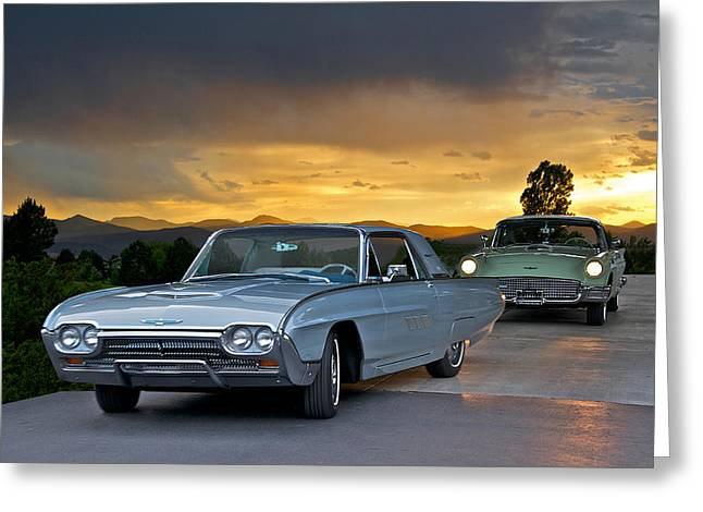 Family Car Greeting Cards - Birds of a Feather Greeting Card by Dave Koontz