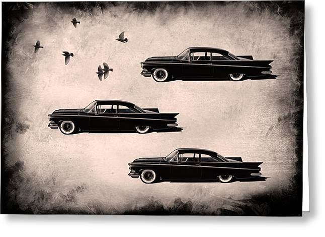 Buick Greeting Cards - Birds of a Feather Greeting Card by Douglas Pittman