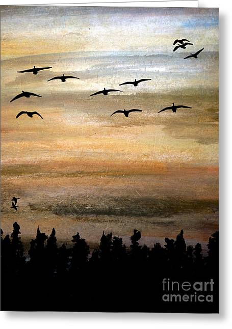Illuminate Pastels Greeting Cards - Birds of a Feather Greeting Card by R Kyllo