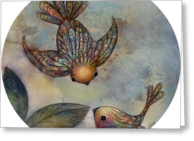 Special Occasion Digital Art Greeting Cards - Birds of Paradise Greeting Card by Karin Taylor