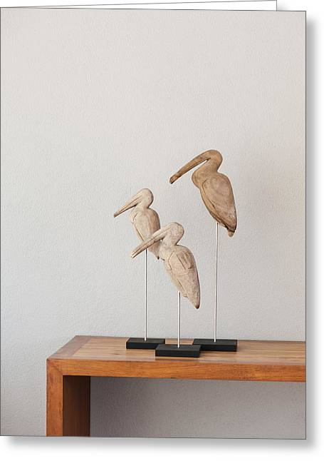 Thai Art Greeting Cards - Birds Greeting Card by Ulrich Schade
