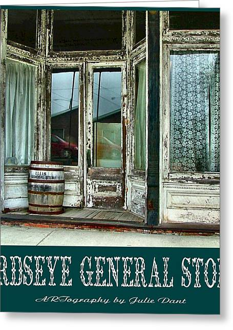 Indiana Art Greeting Cards - Birdseye General Store Greeting Card by Julie Dant
