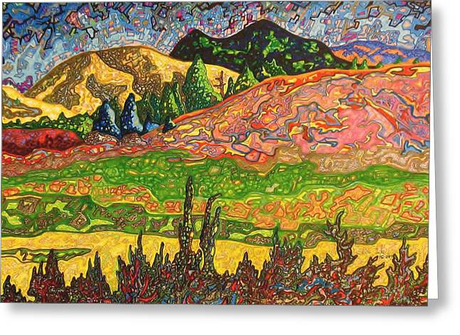 Birdseye Landscape #2 Greeting Card by Dale Beckman