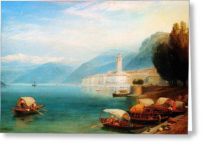 Constable Greeting Cards - Birket Foster Lake Como Greeting Card by MotionAge Designs