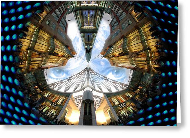 Mound Mixed Media Greeting Cards - Birmingham Bull Ring Eyes In The Sky Greeting Card by Neil Finnemore