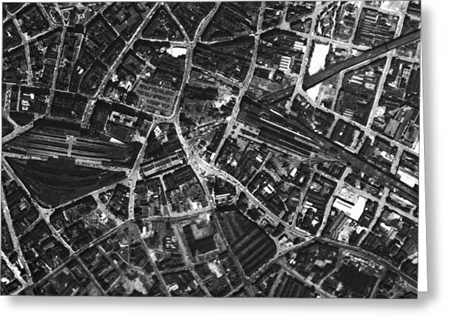 Post-war Greeting Cards - Birmingham, Historical Aerial Photograph Greeting Card by Getmapping Plc