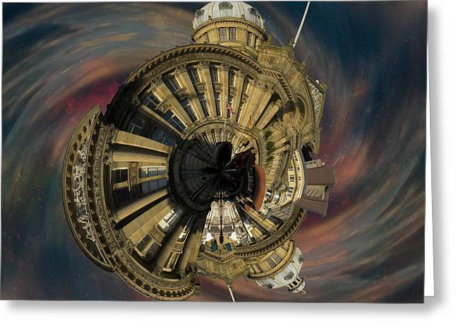 Mound Mixed Media Greeting Cards - Birmingham Town Hall Uk Greeting Card by Neil Finnemore