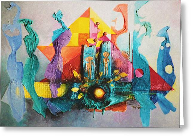 Pyramids Reliefs Greeting Cards - Birth Greeting Card by Assem Omar