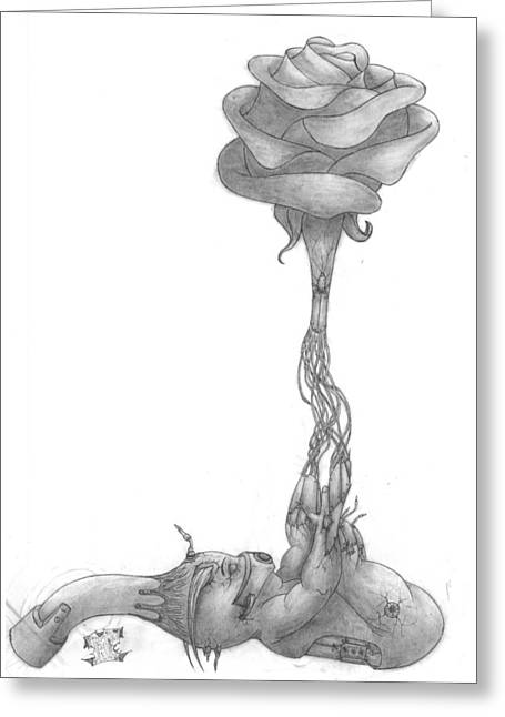 Morphing Drawings Greeting Cards - Birth Greeting Card by Joseph Onescu