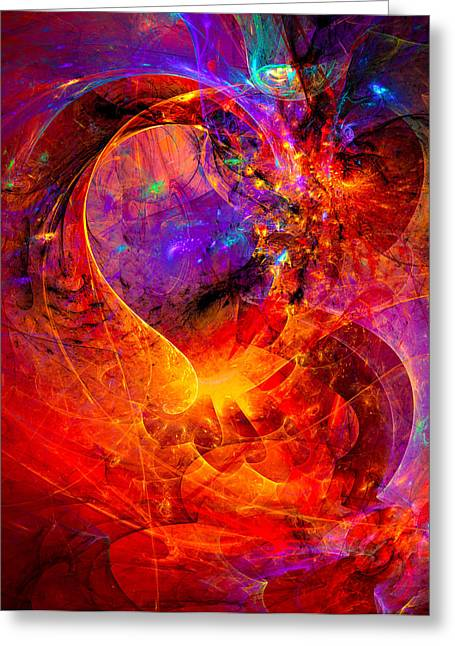 Science Greeting Cards - Birth of a wish Greeting Card by Modern Art Prints