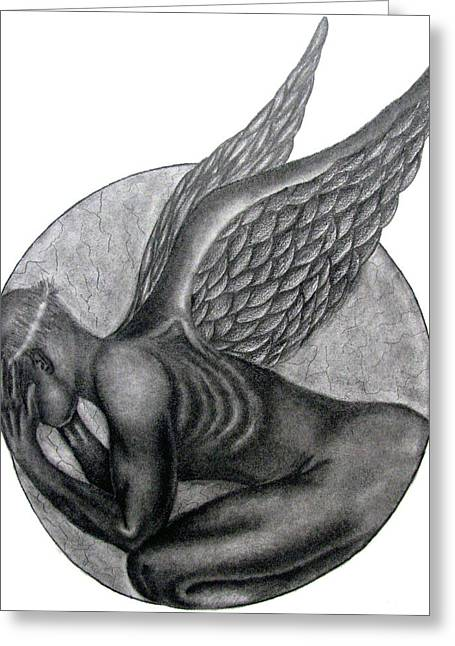 Birth Of An Angel Greeting Card by Patrick Carrington